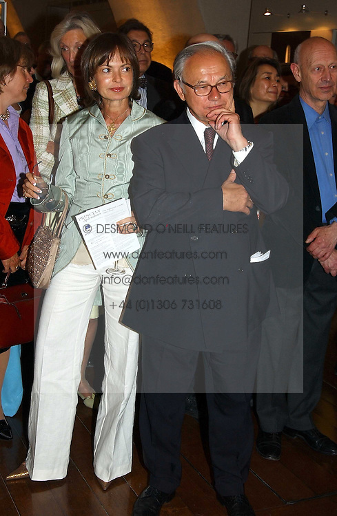 COUNTESS MAYA VON SCHONBURG and HUBERT BAUER at the opening of 'Princely Splendour; The Dresden Court 1580-1620' a new temporary exhibition at The Gilbert Collection, Somerset House, London sposored by Hubert Bruda Media, The Schroder Family and WestLB AG on 8th June 2005.<br />