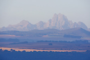 View of Mount Kenya at sunrise<br /> Lewa Conservancy
