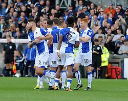 Bristol Rovers celebrate Rory Gaffney (R) goal - Mandatory by-line: Neil Brookman/JMP - 30/09/2017 - FOOTBALL - Memorial Stadium - Bristol, England - Bristol Rovers v Plymouth Argyle - Sky Bet League One