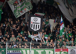 03.04.2019, TGW Arena, Pasching, AUT, OeFB Uniqa Cup, LASK vs SK Rapid Wien, Halbfinale, im Bild Rapid Fans // during the halffinal match of the ÖFB Uniqa Cup between LASK and SK Rapid Wien at the TGW Arena in Pasching, Austria on 2019/04/03. EXPA Pictures © 2019, PhotoCredit: EXPA/ Reinhard Eisenbauer