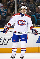March 4, 2010; San Jose, CA, USA; Montreal Canadiens center Tomas Plekanec (14) during the first period against the San Jose Sharks at HP Pavilion. San Jose defeated Montreal 3-2. Mandatory Credit: Jason O. Watson / US PRESSWIRE