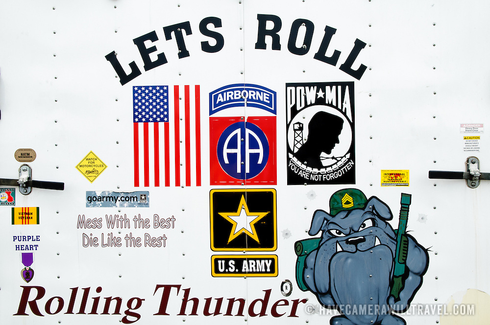 Rolling Thunder Motorcycle Rally Signs And Symbols Have Camera