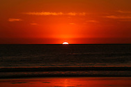 The sun sets as seen from Venice beach in  Los Angeles, California, U.S November 16, 2016.  Jonathan Alcorn