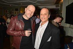 Right, Gary Michael Walters at a party hosted by Andre Howard Gayle to launch issue one of The Fall held at The Groucho Club, Dean Street, London England. 05 October 2017.