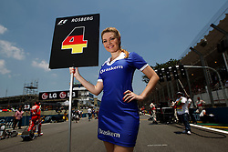 Motorsports / Formula 1: World Championship 2010, GP of Brazil, grid girl