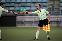 (L-R) referee Allard Lindhout, Terry Hoekstra during the Pre-season Friendly match between ADO Den Haag and Panathinaikos at the Cars Jeans Stadium on July 28, 2018 in The Hague, The Netherlands