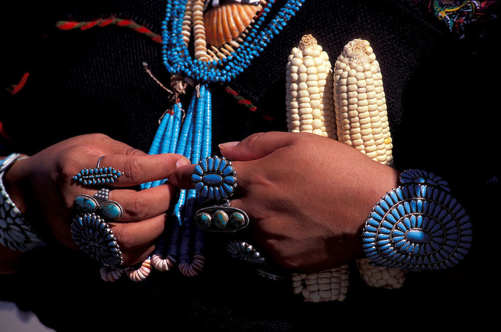 Turquoise Jewelry, Acoma Intercultural Dancers, Native American Days, Acoma Pueblo, Native Americans, New Mexico, USA