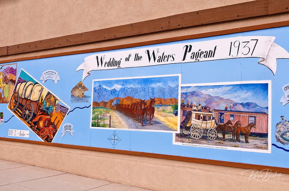 Old western mural, Lone Pine, California USA