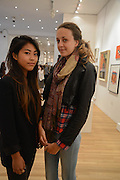 HIROE FUJISAKI; IMOGEN POTTER, 20/21 British Art Fair. Celebrating its 25 Anniversary. The Royal College of Art . Kensington Gore. London. 12 September 2012.