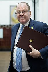 """© Licensed to London News Pictures . 07/03/2016 . Manchester , UK . The Minister for Life Sciences , GEORGE FREEMAN MP , arrives for a meeting at Vaughan House at the University of Manchester , today (7th March 2016) . The venue hosts the """" Health eResearch Centre """" of the National Farr Institute for Health Informatics Research , a hub which uses data for digital and health research . Photo credit : Joel Goodman/LNP"""