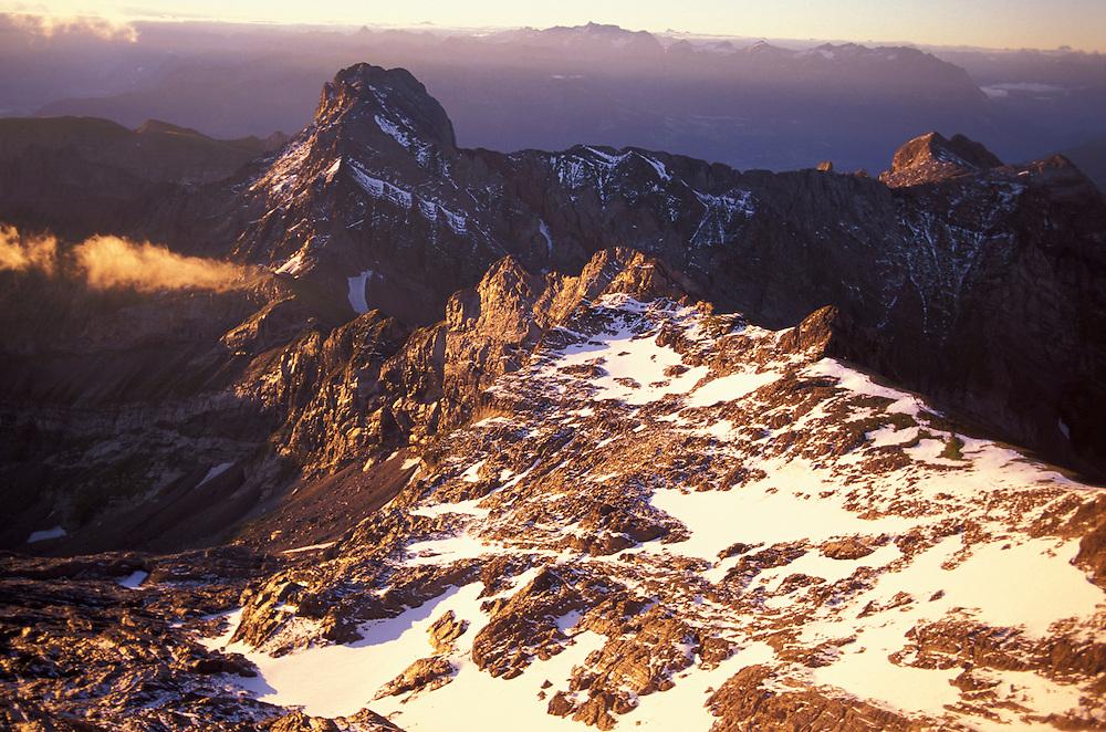 Mt.Altmann, View from Mount Saentis, Swiss Alps, Appenzell Canton, Switzerland