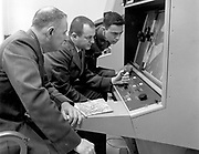 Cuban Missile Crisis.1960'S -- Strategic Air Command personnel interpreting reconnaissance photo during the Cuban Missile Crisis, 1962. (U.S. Air Force