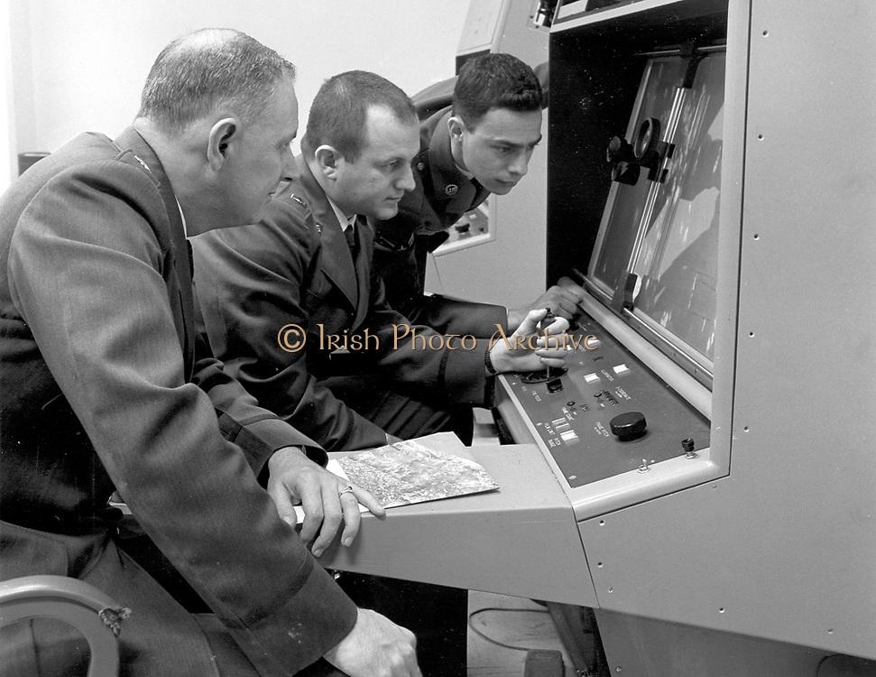 Cuban Missile Crisis.1960'S -- Strategic Air Command personnel interpreting reconnaissance photo during the Cuban Missile Crisis, 1962. (U.S. Air Force