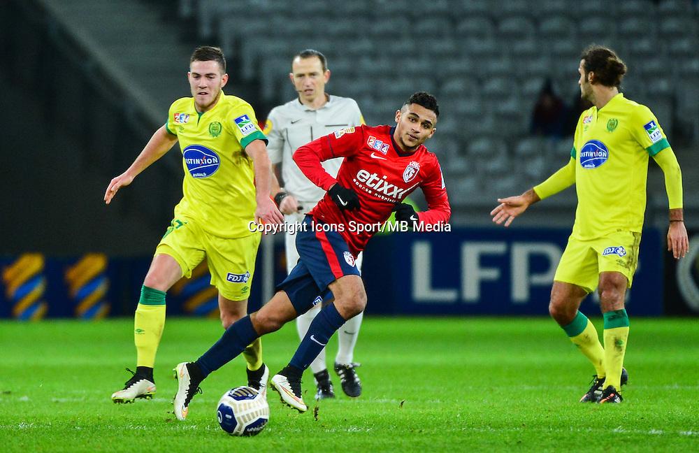 Sofiane BOUFAL / Jordan VERETOUT - 14.01.2014 - Lille / Nantes - 1/4Finale Coupe de la Ligue<br /> Photo : Dave Winter / Icon Sport