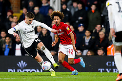 Han-Noah Massengo of Bristol City challenges Tom Cairney of Fulham - Rogan/JMP - 07/12/2019 - Craven Cottage - London, England - Fulham v Bristol City - Sky Bet Championship.