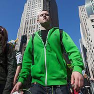 New York Saint patrick  parade on fifth avenue, irish celebration