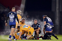 Rugby Union - 2019 / 2020 Gallagher Premiership - Sale Sharks vs. Wasps <br /> <br /> Steam rises from the Sale Sharks and Wasps players, at AJ Bell Stadium,<br /> <br /> COLORSPORT/PAUL GREENWOOD