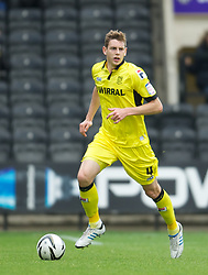 NOTTINGHAM, ENGLAND - Saturday, October 6, 2012: Tranmere Rovers' Ash Taylor in action against Notts County during the Football League One match at Meadow Lane. (Pic by David Rawcliffe/Propaganda)