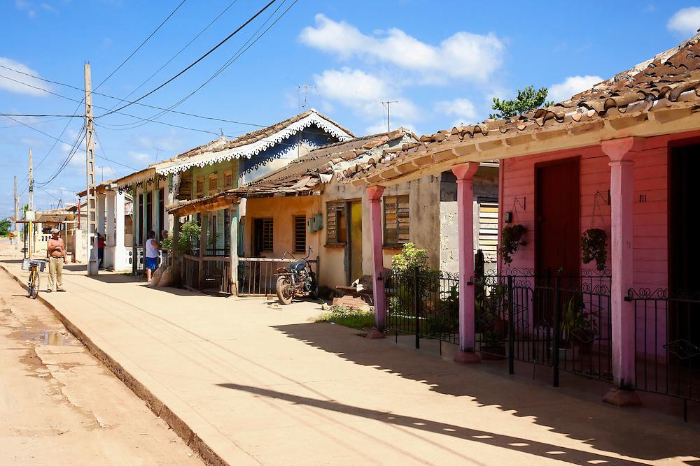 Street in San Felipe, Mayabeque, Cuba.