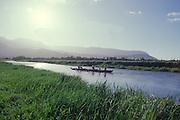Outrigger Canoe, Hanalei River, Kauai, Hawaii<br />