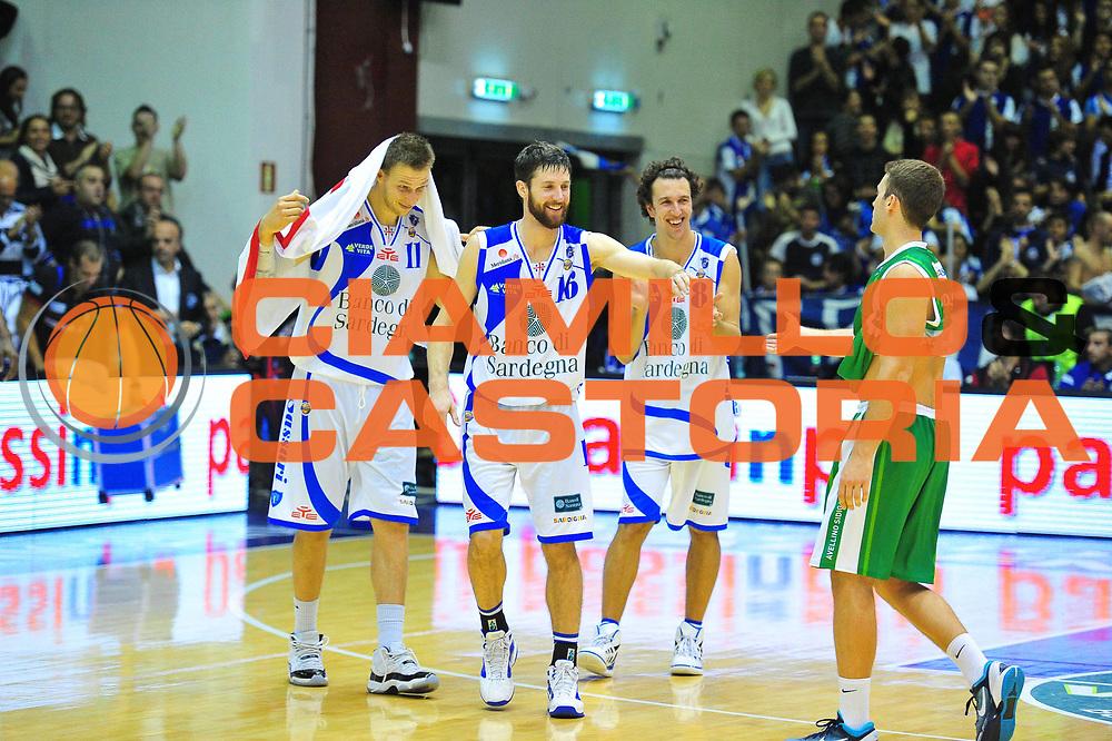 DESCRIZIONE : Sassari Lega A 2012-13 Dinamo Sassari - Sidigas Avellino<br /> GIOCATORE :Drake Diener - Michael Ignersky - Jack Devecchi<br /> CATEGORIA :Esultanza<br /> SQUADRA : Dinamo Sassari<br /> EVENTO : Campionato Lega A 2012-2013 <br /> GARA : Dinamo Sassari - Sidigas Avellino<br /> DATA :11/11/2012<br /> SPORT : Pallacanestro <br /> AUTORE : Agenzia Ciamillo-Castoria/M.Turrini<br /> Galleria : Lega Basket A 2012-2013  <br /> Fotonotizia : Sassari Lega A 2012-13 Dinamo Sassari - Sidigas Avellino<br /> Predefinita :