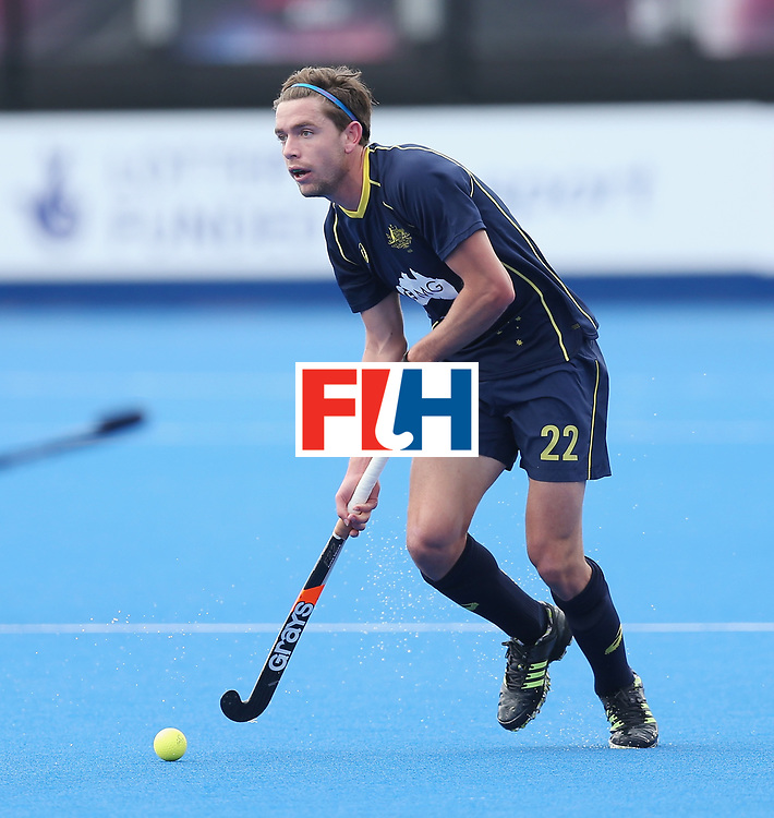 LONDON, ENGLAND - JUNE 16: Flynn Ogilvie of Australia during the FIH Mens Hero Hockey Champions Trophy match between Australia and India at Queen Elizabeth Olympic Park on June 16, 2016 in London, England.  (Photo by Alex Morton/Getty Images)