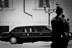 Rome jul 08, 2009 Italy - Obama, to the Quirinale after meeting with the President Napolitano.
