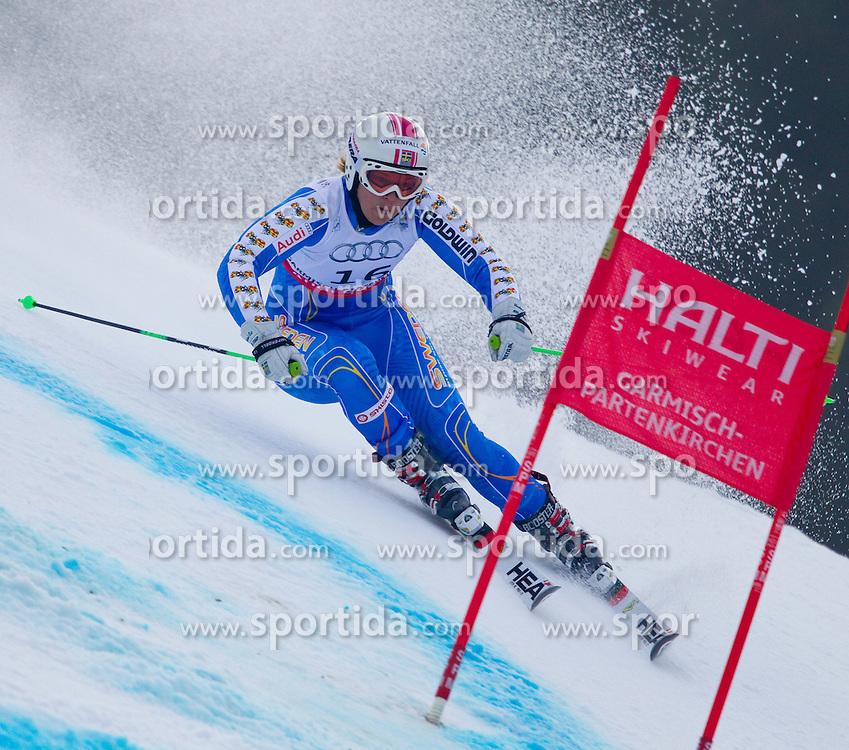 17.02.2011, Kandahar, Garmisch Partenkirchen, GER, FIS Alpin Ski WM 2011, GAP, Riesenslalom, im Bild Anja Paerson (SWE) // Anja Paerson (SWE) during Giant Slalom Fis Alpine Ski World Championships in Garmisch Partenkirchen, Germany on 17/2/2011. EXPA Pictures © 2011, PhotoCredit: EXPA/ M. Gunn