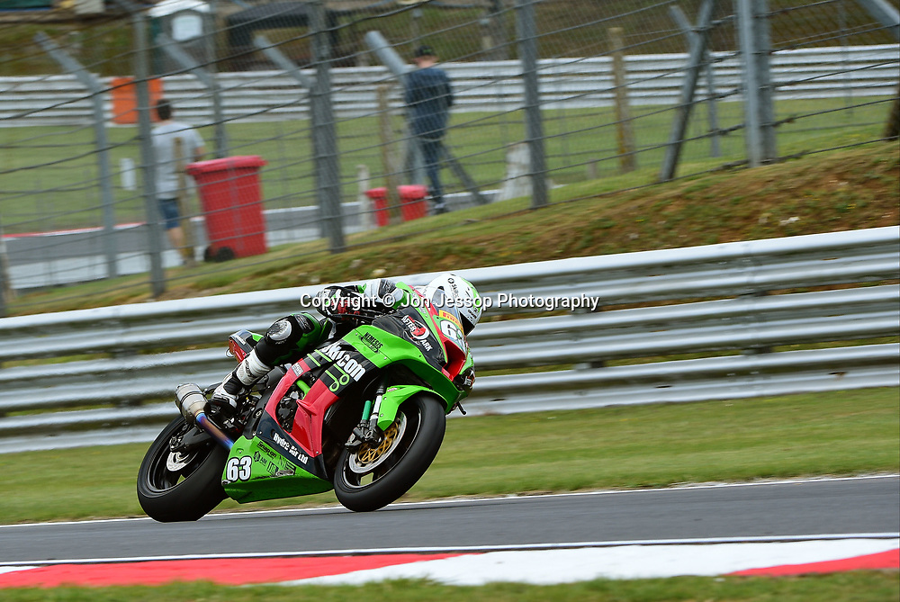 #63 James White Reading Team Afterdark Kawasaki Pirelli National Superstock 1000 Championship