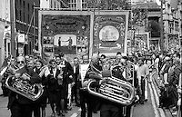 Riccall and Selby Coalfield Branch banners. 1993 Yorkshire Miner's Gala. Wakefield.