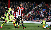 \jn23\ missing a golden chance in the last few minutes during the Sky Bet Championship match between Brentford and Huddersfield Town at Griffin Park, London, England on 19 December 2015. Photo by Matthew Redman.