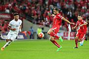 Switzerland's Ricardo Rodriguez  during the UEFA European 2016 Qualifying match between England and Switzerland at Wembley Stadium, London, England on 8 September 2015. Photo by Shane Healey.