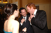 Neve Campbell, John Light and Damien Lewis. Laurence Oliver Awards, Hilton Hotel. 26 February 2006. ONE TIME USE ONLY - DO NOT ARCHIVE  © Copyright Photograph by Dafydd Jones 66 Stockwell Park Rd. London SW9 0DA Tel 020 7733 0108 www.dafjones.com