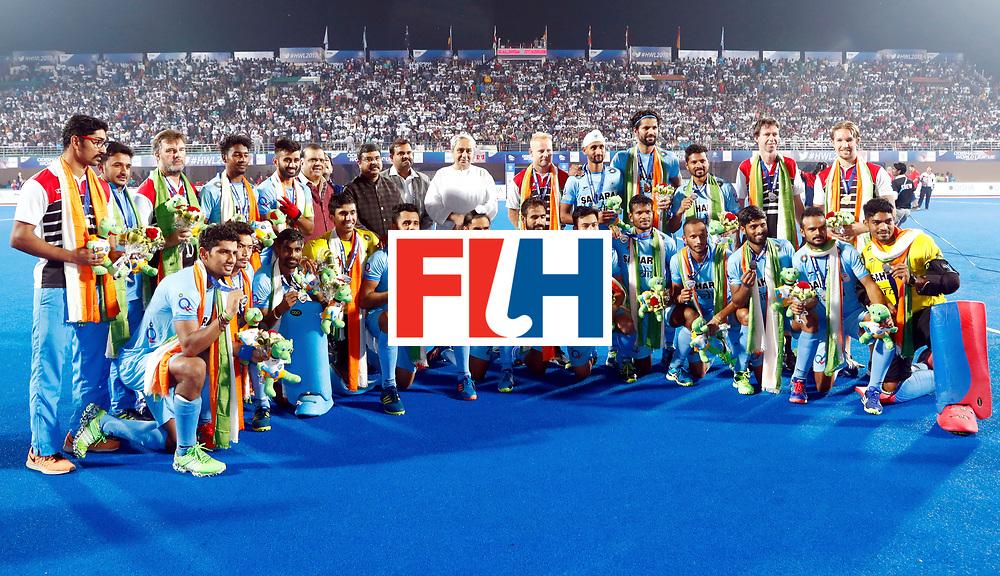 Odisha Men's Hockey World League Final Bhubaneswar 2017<br /> Match id:21<br /> India v Germany<br /> Foto: Team foto India<br /> WORLDSPORTPICS COPYRIGHT KOEN SUYK