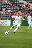 July 24th, 2012:  Swansea City AFC midfielder Mark Gower (27) eyes the ball as the Colorado Rapids host Swansea City AFC for a international friendly soccer match in Denver, CO.