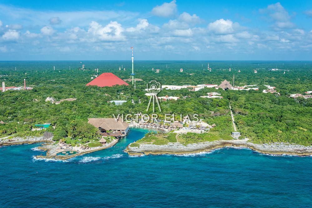 Aerial view of the Occidental Flamenco Xcaret hotel. Xcaret. Quintana Roo, Mexico.