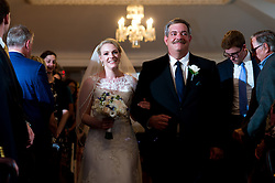 Wedding of Caitlin and Kevin at the Daughters of the American Revolution building on October 8, 2016, in Washington, D.C.