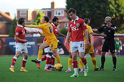 Preston North End's Neil Kilkenny appears to push Bristol City's Luke Freeman - Photo mandatory by-line: Dougie Allward/JMP - Mobile: 07966 386802 - 22/11/2014 - Sport - Football - Bristol - Ashton Gate - Bristol City v Preston North End - Sky Bet League One