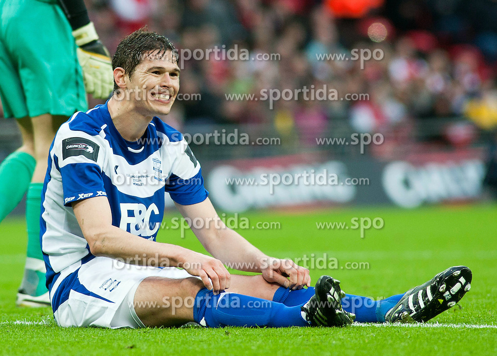 27.02.2011, Wembley Stadium, London, ENG, Carling Cup, Finale, Arsenal FC vs Birmingham City, im Bild Birmingham City's Nikola Zigic looks dejected after seeing his shot saved during the Football League Cup Final match at Wembley Stadium, EXPA Pictures © 2011, PhotoCredit: EXPA/ Propaganda/ Gareth Davies *** ATTENTION *** UK OUT!