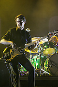 """Two-Tone"" Tommy on bass of My Morning Jacket perform on the second day of the 2008 Bonnaroo Music & Arts Festival on June 13, 2008 in Manchester, Tennessee. The four-day music festival features a variety of musical acts, arts and comedians..Photo by Bryan Rinnert"