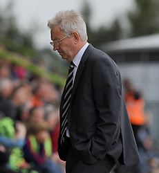Dover Athletic Manager, Chris Kinnear shows a dejected figure - Photo mandatory by-line: Nizaam Jones - Mobile: 07966 386802 - 25/04/2015 - SPORT - Football - Nailsworth - The New Lawn - Forest Green Rovers v Dover - Vanarama Conference League