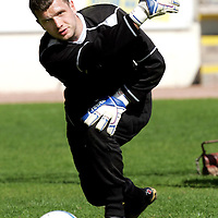 St Johnstone Training...27.04.07<br />Keeper Kevin Cuthbert during training this morning before tomorrow's first division title clinc game against Hamilton.<br />see story by Gordon Bannerman Tel: 01738 553978 or 07729 865788<br />Picture by Graeme Hart.<br />Copyright Perthshire Picture Agency<br />Tel: 01738 623350  Mobile: 07990 594431