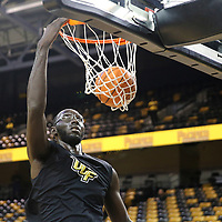 ORLANDO, FL - NOVEMBER 30: Tacko Fall #24 of the UCF Knights warms up prior to a NCAA basketball game against the Missouri Tigers at the CFE Arena on November 30, 2017 in Orlando, Florida. (Photo by Alex Menendez/Getty Images) *** Local Caption *** Tacko Fall