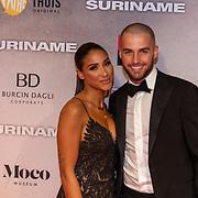 NLD/Amsterdam/20200217-Suriname filmpremiere, Donny Roelvink en partner Janice Blok