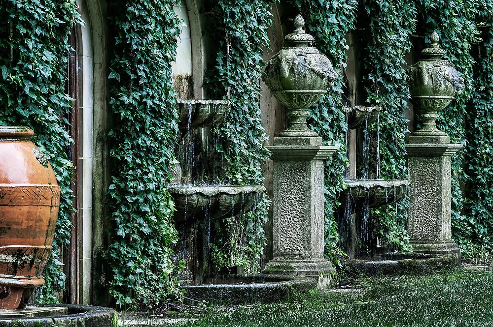 Old world formal Italian garden at Longwood Gardens, Pennsylvania, USA