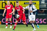 ALMELO - 14-04-2017, Heracles  Almelo - AZ, AFAS Stadion, AZ speler Stijn Wuytens, Heracles Almelo speler Samuel Armenteros