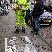 NLD/Amsterdam/20150122 - Graffiti van Frank lammers voor Michiel de Ruyter film,