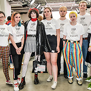 Stop Staff Cuts Attendees at the Graduate Fashion Week 2019 - Day Three, on 2 June 2019, Old Truman Brewery, London, UK.