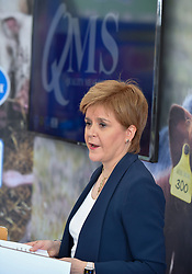 Pictured: First Minister Nicola Sturgeon<br /> <br /> Scotland's First Minister Nicola Sturgeon joined thousands of visitors attending day 2 of the 2019 Royal Highland Show at Ingliston.<br /> <br /> © Dave Johnston / EEm