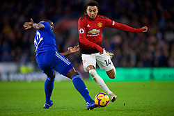 CARDIFF, WALES - Saturday, December 22, 2018: Manchester United's Jesse Lingard during the FA Premier League match between Cardiff City FC and Manchester United FC at the Cardiff City Stadium. Manchester United won 5-1.(Pic by Vegard Grøtt/Propaganda)